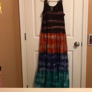 Maxi tie dye sun dress